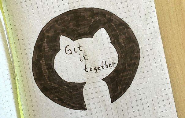 notebook sketch of github logo